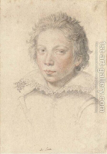 Portrait of a boy by (after) Giuseppe (d'Arpino) Cesari (Cavaliere) - Reproduction Oil Painting