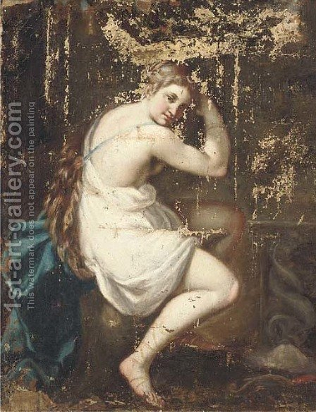 Diana after the hunt by (after) Guido Cagnacci - Reproduction Oil Painting
