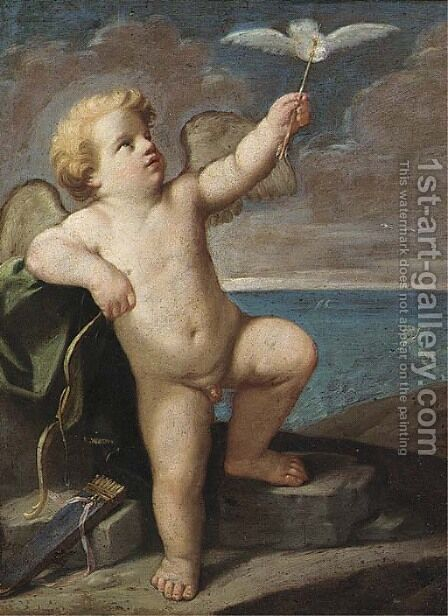 Cupid by (after) Guido Reni - Reproduction Oil Painting