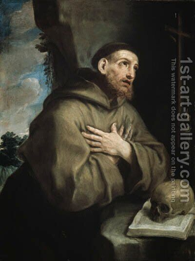 Saint Francis by (after) Guido Reni - Reproduction Oil Painting