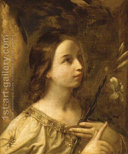 The Angel of the Annunciation by (after) Guido Reni - Reproduction Oil Painting