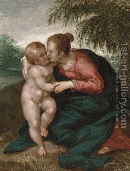 The Virgin and Child by (attr. to) Rottenhammer, Hans - Reproduction Oil Painting