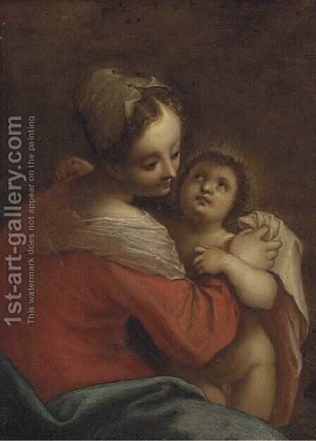 The Virgin and Child by (after) Hans Von Aachen - Reproduction Oil Painting