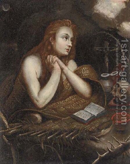The Penitent Magdalen by (after) Hendrik Van Balen, III - Reproduction Oil Painting