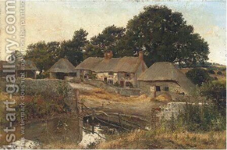 A quiet day on the farm by (after) Henry John Yeend King - Reproduction Oil Painting