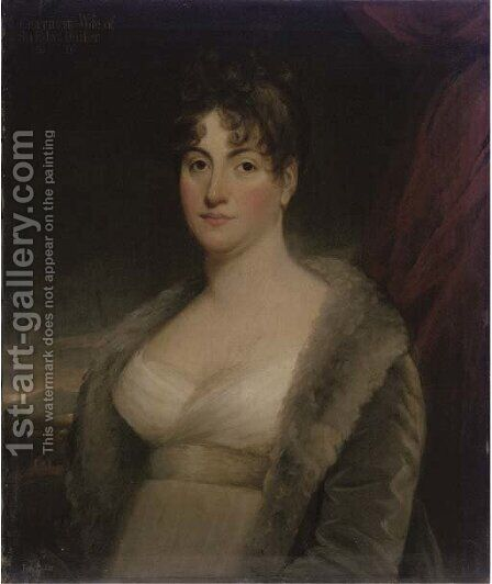 Portrait of Gertrude, wife of Admiral Sir Edward Buller, Bt. of Trenant Park by (after) Sir Henry Raeburn - Reproduction Oil Painting