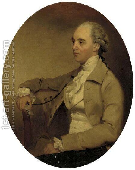 Portrait of a gentleman by (after) Henry Walton - Reproduction Oil Painting