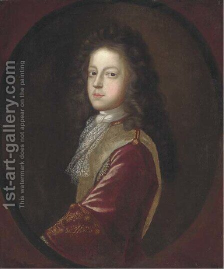 Portrait of Prince James Francis Edward Stuart, 'The Old Pretender' (1688-1766) by (after) Herman Verelst - Reproduction Oil Painting