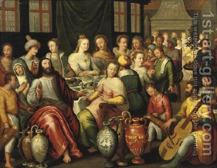The Marriage at Cana by (after) Hieronymus II Francken - Reproduction Oil Painting