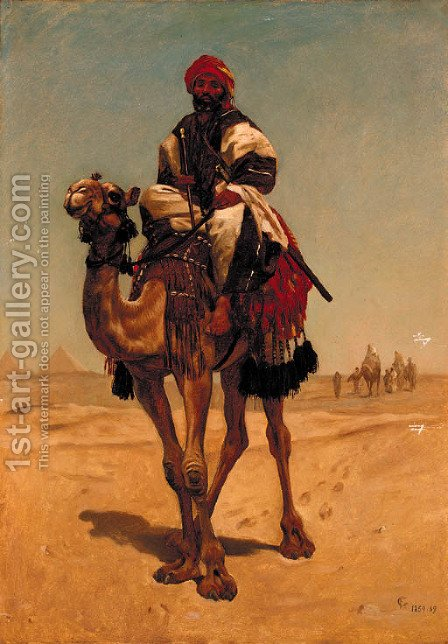 The Camel Rider by (after) Horace Vernet - Reproduction Oil Painting