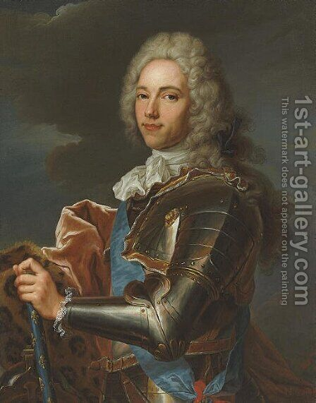 Portrait of the Duc de Broglie (1671-1745) by (after) Hyacinthe Rigaud - Reproduction Oil Painting