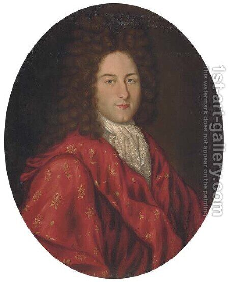 Portrait of a gentleman by (after) Hyacinthe Rigaud - Reproduction Oil Painting