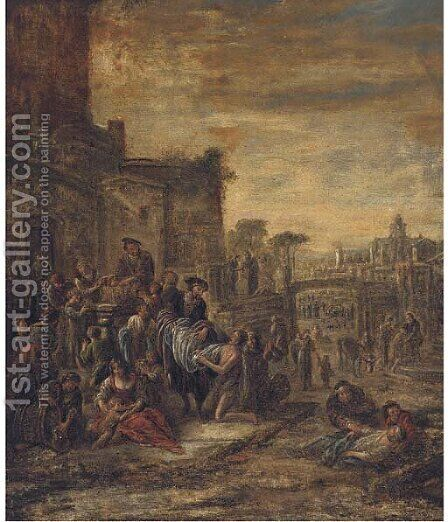 The Seven acts of Mercy by (after) Jacob Willemsz De The Elder Wet - Reproduction Oil Painting