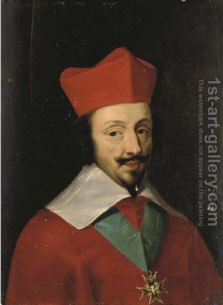 Portrait of Cardinal Richelieu by (after) Jakob Ferdinand Voet - Reproduction Oil Painting