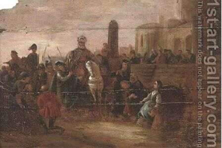 A triumphal entry into a city by (after) Jakob Willemsz. De Wet - Reproduction Oil Painting