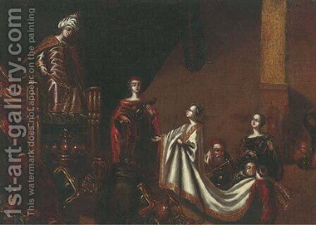 The family of Darius before Alexander by (after) Jakob Willemsz. De Wet - Reproduction Oil Painting