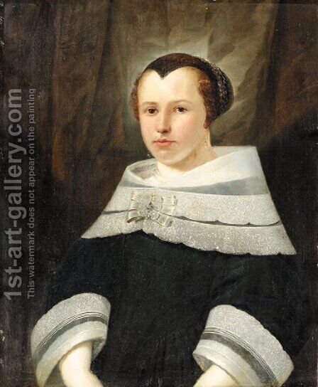 Portrait of a lady by (after) Anthony Van Ravesteyn - Reproduction Oil Painting