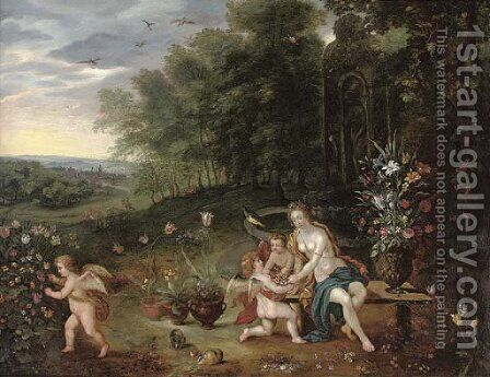 Allegory of Spring by (after) Jan, The Younger Brueghel - Reproduction Oil Painting