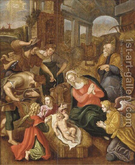 The Adoration of the Shepherds by (after) Jan De Beer - Reproduction Oil Painting
