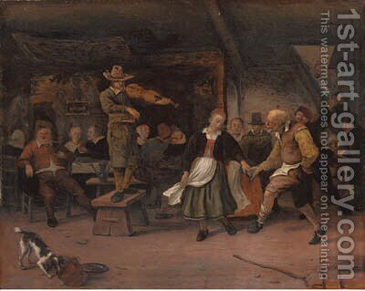 A marriage dance by (after) Jan Steen - Reproduction Oil Painting