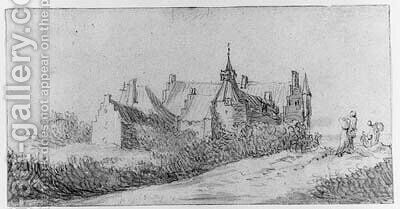 A View of Radboud Castle near Medemblik by (after) Jan Van Goyen - Reproduction Oil Painting