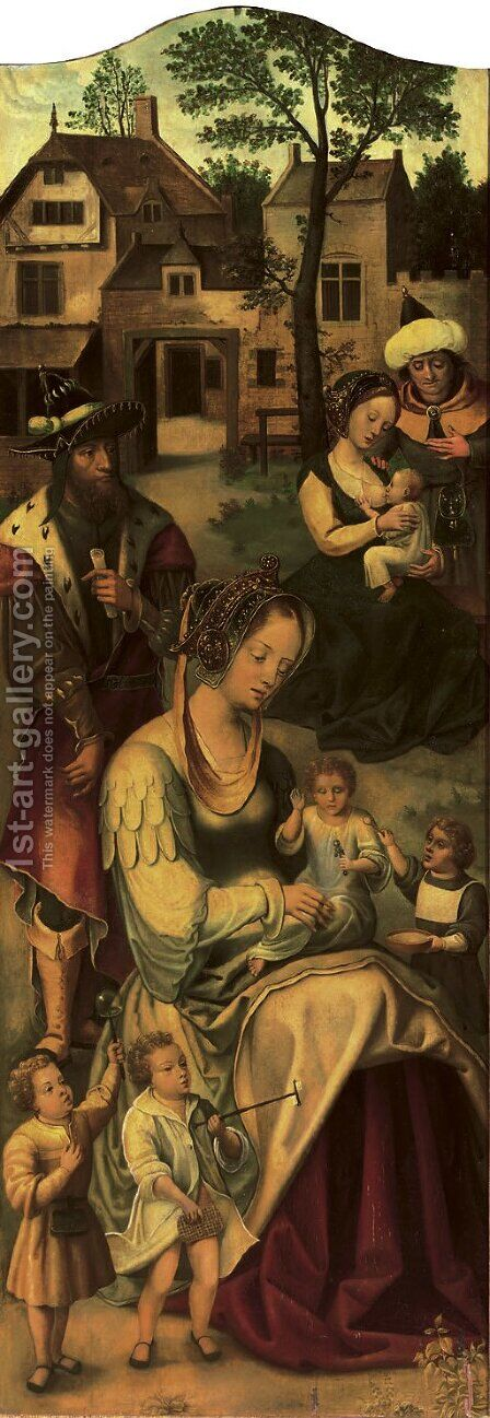 Saint Mary of Cleophas and her family by (after) Jan Van Dornicke - Reproduction Oil Painting