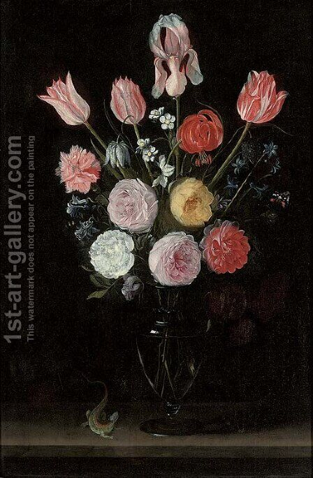 Flowers by (after) Jan Philip Van Thielen - Reproduction Oil Painting