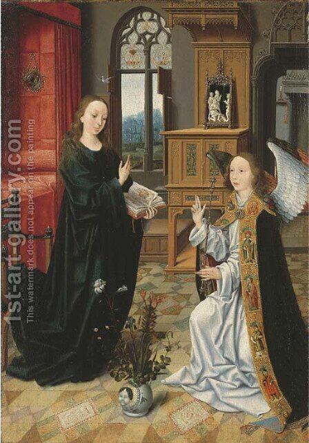 The Annunciation by (after) Jan Provoost - Reproduction Oil Painting
