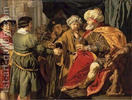 Joseph interpreting Pharaoh's dreams by (after) Jan Tengnagel - Reproduction Oil Painting