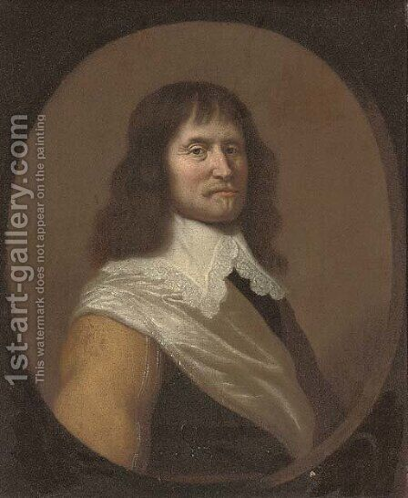 Portrait of a gentleman by (after) Jan Van Bijlert - Reproduction Oil Painting