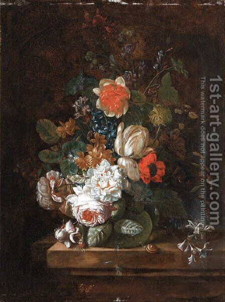 Still life by (after) Huysum, Jan van - Reproduction Oil Painting