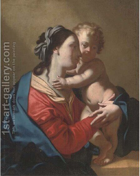 The Virgin and Child by (after) Jean Tassel - Reproduction Oil Painting