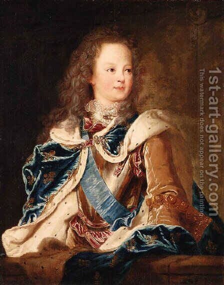 Portrait of the Dauphin, Louis, later King Louis XV of France (1710-1774) by (after) Jean Baptiste Van Loo - Reproduction Oil Painting