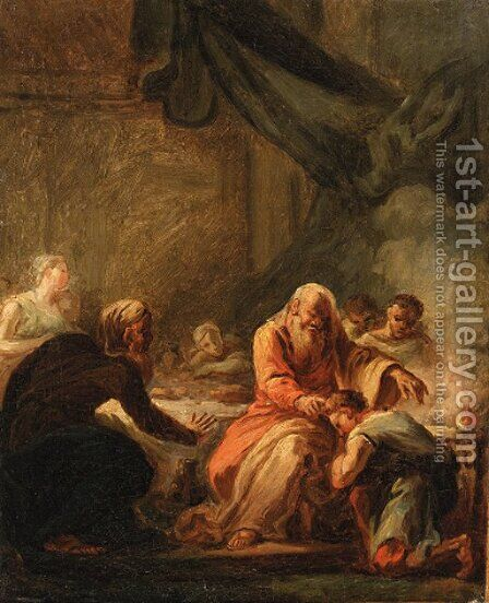 David anointed by Samuel by (after) Fragonard, Jean-Honore - Reproduction Oil Painting