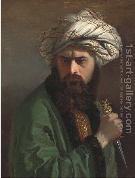 A Turkish assassin by (after) Jean-Leon Gerome - Reproduction Oil Painting