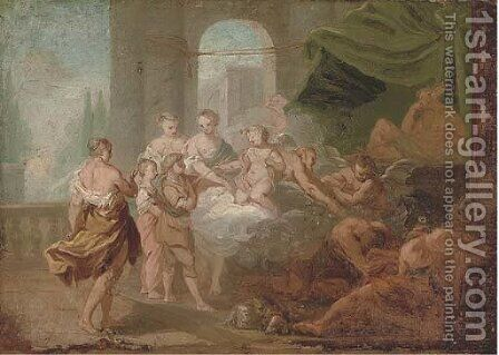 A mythological scene by (after) Jean-Simon Berthelemy - Reproduction Oil Painting