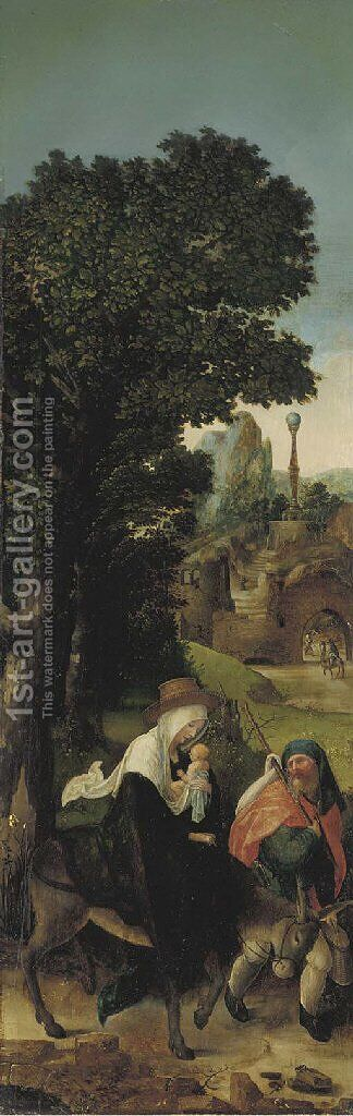 The Flight into Egypt by (after) Joachim Patenier (Patinir) - Reproduction Oil Painting