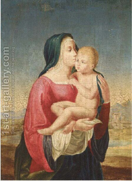 The Virgin and Child by (after) Johann Friedrich Overbeck - Reproduction Oil Painting