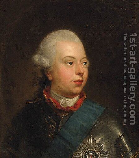 Portrait of William V, Prince of Orange by (after) Johann Heinrich The Elder Tischbein - Reproduction Oil Painting