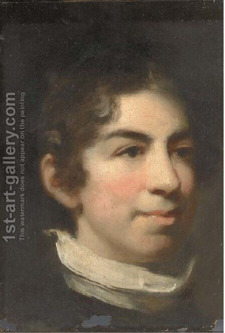 Portrait of a boy, head-and-shoulders, in a raised collar by (after) Constable, John - Reproduction Oil Painting