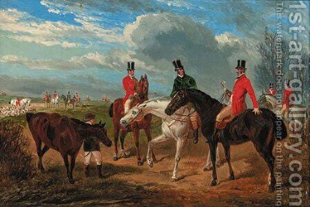 The meet by (after) John Frederick Jun Herring - Reproduction Oil Painting