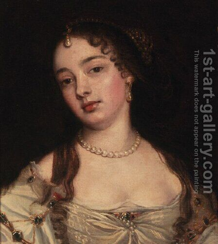Portrait of a lady by (after) John Greenhill - Reproduction Oil Painting