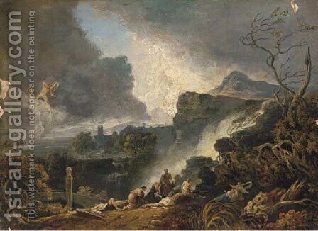 The wrath of the gods by (after) John Martin - Reproduction Oil Painting
