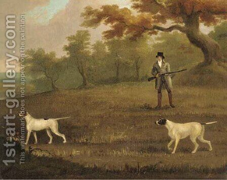 Partridge shooting by (after) John Nott Sartorius - Reproduction Oil Painting