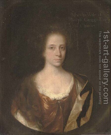 Portrait of Martha Gregge by (after) John Riley - Reproduction Oil Painting