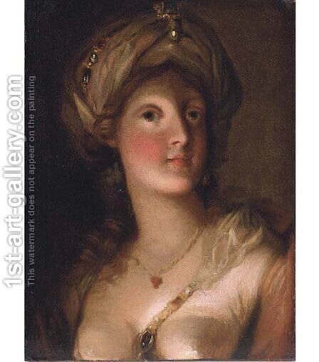 A sibyl by (after) Russell, John - Reproduction Oil Painting