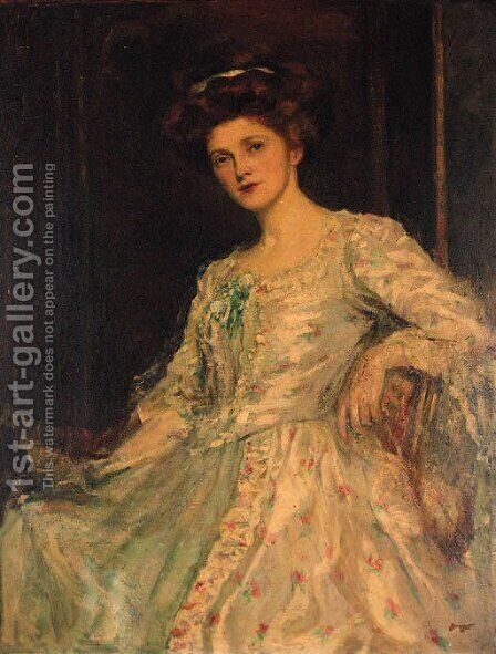 Portrait of a Lady by (after) John Singer Sargent - Reproduction Oil Painting