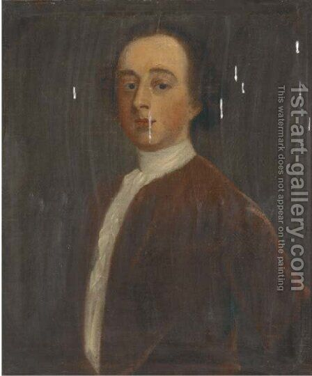 Portrait of a gentleman 5 by (after) John Theodore Heins - Reproduction Oil Painting