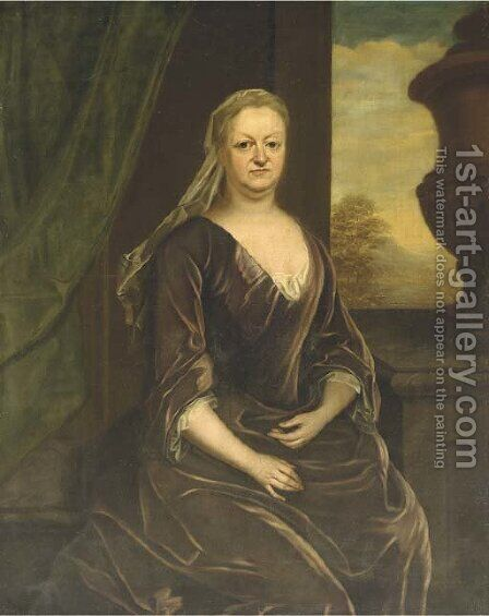 Portrait of Leonora Marescoe, Lady Frederick by (after) John Vanderbank - Reproduction Oil Painting