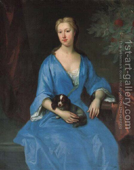 Portrait of a lady by (after) Johannes Or Jan Verelst - Reproduction Oil Painting